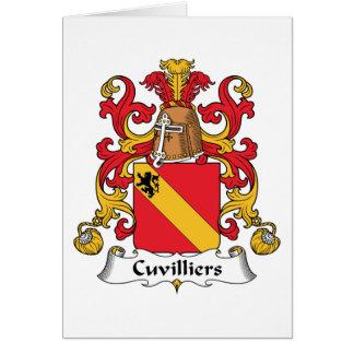 Escudo de la familia de Cuvilliers Tarjetas