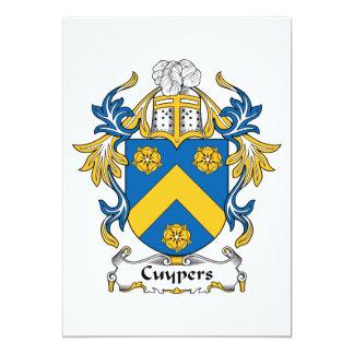 """Escudo de la familia de Cuypers Invitación 5"""" X 7"""""""