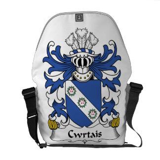 Escudo de la familia de Cwrtais Bolsa Messenger