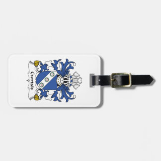 Escudo de la familia de Cwrtais Etiqueta De Equipaje