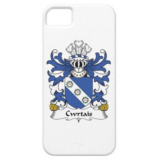Escudo de la familia de Cwrtais iPhone 5 Protectores