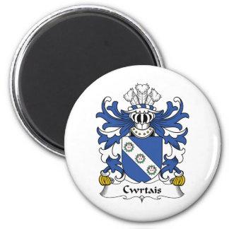 Escudo de la familia de Cwrtais Imán Redondo 5 Cm