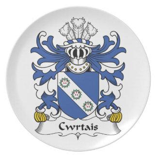Escudo de la familia de Cwrtais Plato De Cena