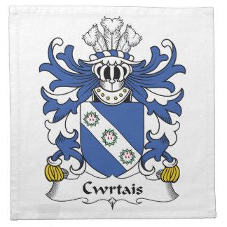 Escudo de la familia de Cwrtais Servilleta De Papel