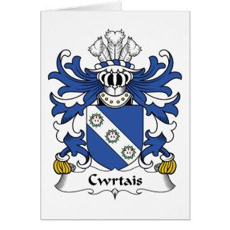 Escudo de la familia de Cwrtais Tarjeta De Felicitación