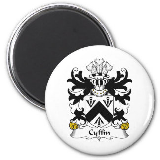 Escudo de la familia de Cyffin Imán Redondo 5 Cm