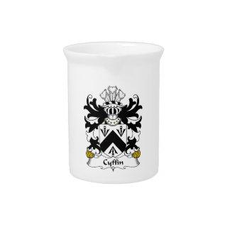 Escudo de la familia de Cyffin Jarra Para Bebida