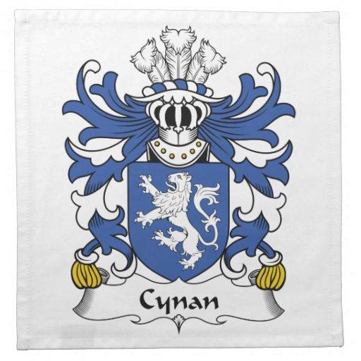 Escudo de la familia de Cynan Servilletas