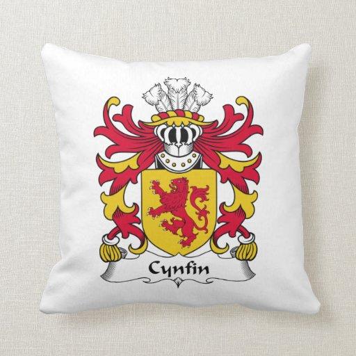 Escudo de la familia de Cynfin Almohadas