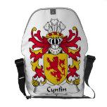 Escudo de la familia de Cynfin Bolsas De Mensajería