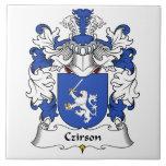 Escudo de la familia de Czirson Azulejos Cerámicos