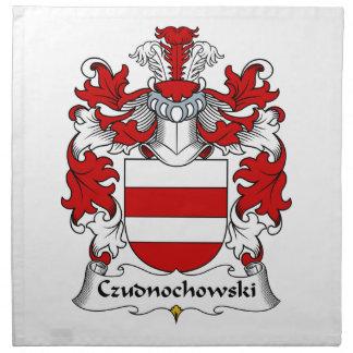 Escudo de la familia de Czudnochowski Servilleta De Papel