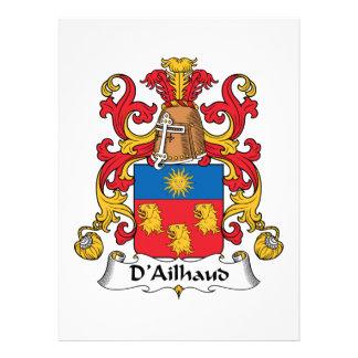 Escudo de la familia de D Ailhaud Comunicado Personalizado