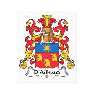 Escudo de la familia de D Ailhaud Impresion En Lona