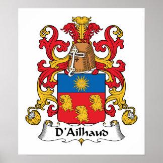 Escudo de la familia de D Ailhaud Posters
