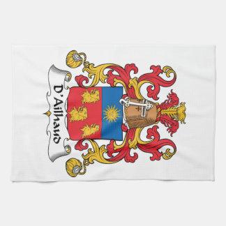 Escudo de la familia de D Ailhaud Toalla