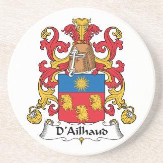 Escudo de la familia de D Ailhaud Posavasos Diseño