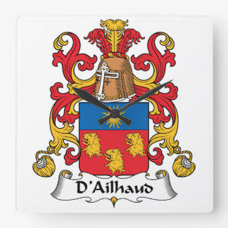Escudo de la familia de D Ailhaud Relojes De Pared