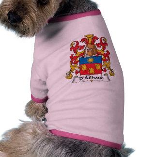 Escudo de la familia de D Ailhaud Camisa De Mascota