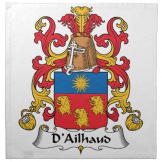 Escudo de la familia de D Ailhaud Servilleta De Papel