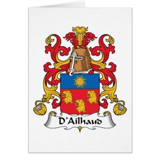 Escudo de la familia de D Ailhaud Felicitación