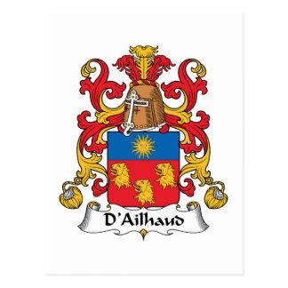 Escudo de la familia de D Ailhaud Postales