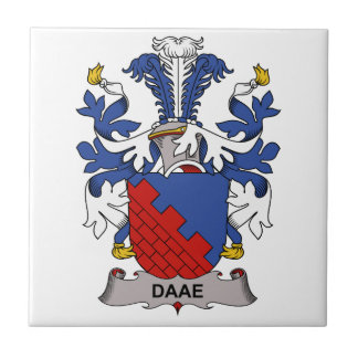 Escudo de la familia de Daae Azulejo Cerámica