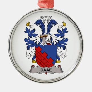 Escudo de la familia de Daae Adorno Redondo Plateado