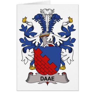 Escudo de la familia de Daae Felicitacion