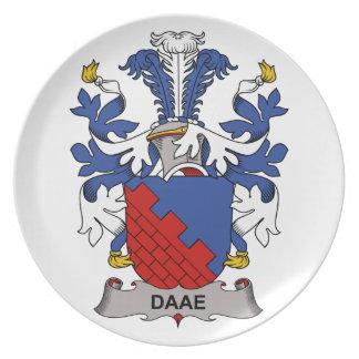 Escudo de la familia de Daae Platos De Comidas