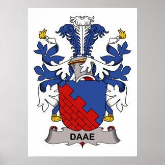 Escudo de la familia de Daae Posters