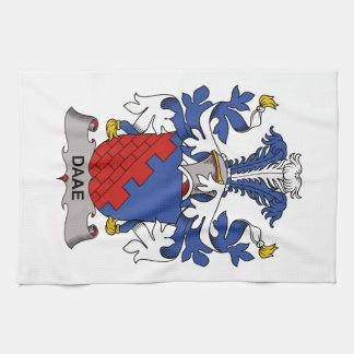 Escudo de la familia de Daae Toalla De Mano
