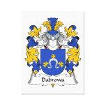 Escudo de la familia de Dabrowa Lona Envuelta Para Galerías
