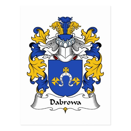 Escudo de la familia de Dabrowa Tarjetas Postales