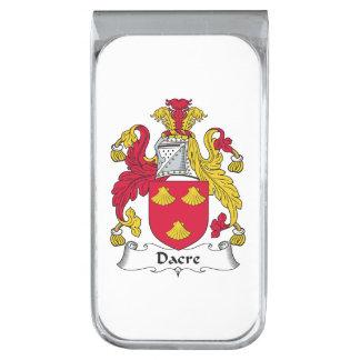 Escudo de la familia de Dacre Clip Para Billetes Plateado