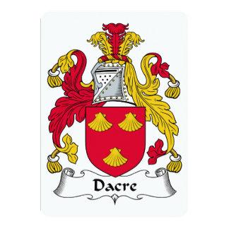"""Escudo de la familia de Dacre Invitación 5"""" X 7"""""""