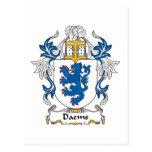 Escudo de la familia de Daems Tarjeta Postal