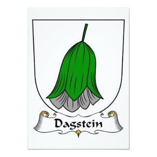 Escudo de la familia de Dagstein Invitación 12,7 X 17,8 Cm