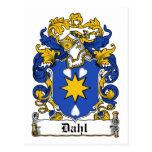 Escudo de la familia de Dahl Postales