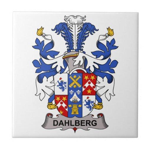 Escudo de la familia de Dahlberg Azulejos