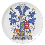Escudo de la familia de Dahlberg Plato De Comida