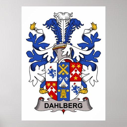 Escudo de la familia de Dahlberg Póster