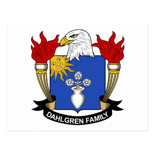 Escudo de la familia de Dahlgren Postal
