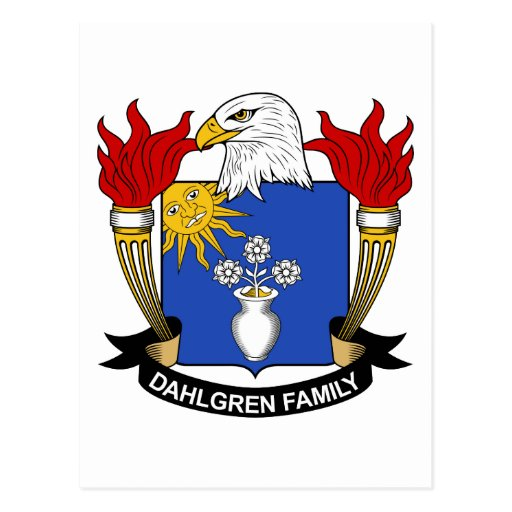 Escudo de la familia de Dahlgren Tarjetas Postales