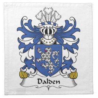Escudo de la familia de Dalden Servilleta De Papel