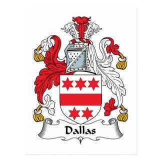 Escudo de la familia de Dallas Postal