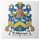 Escudo de la familia de D'Alleman Azulejo