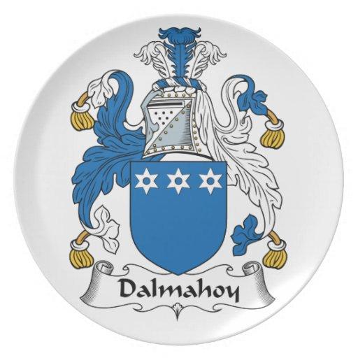 Escudo de la familia de Dalmahoy Plato Para Fiesta