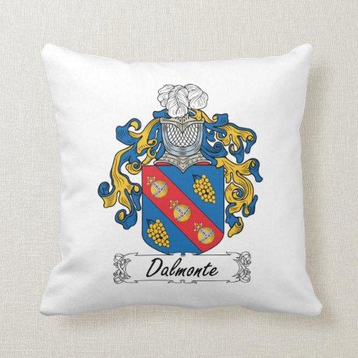 Escudo de la familia de Dalmonte Cojin