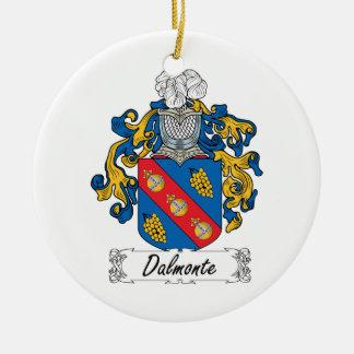 Escudo de la familia de Dalmonte Adorno Redondo De Cerámica